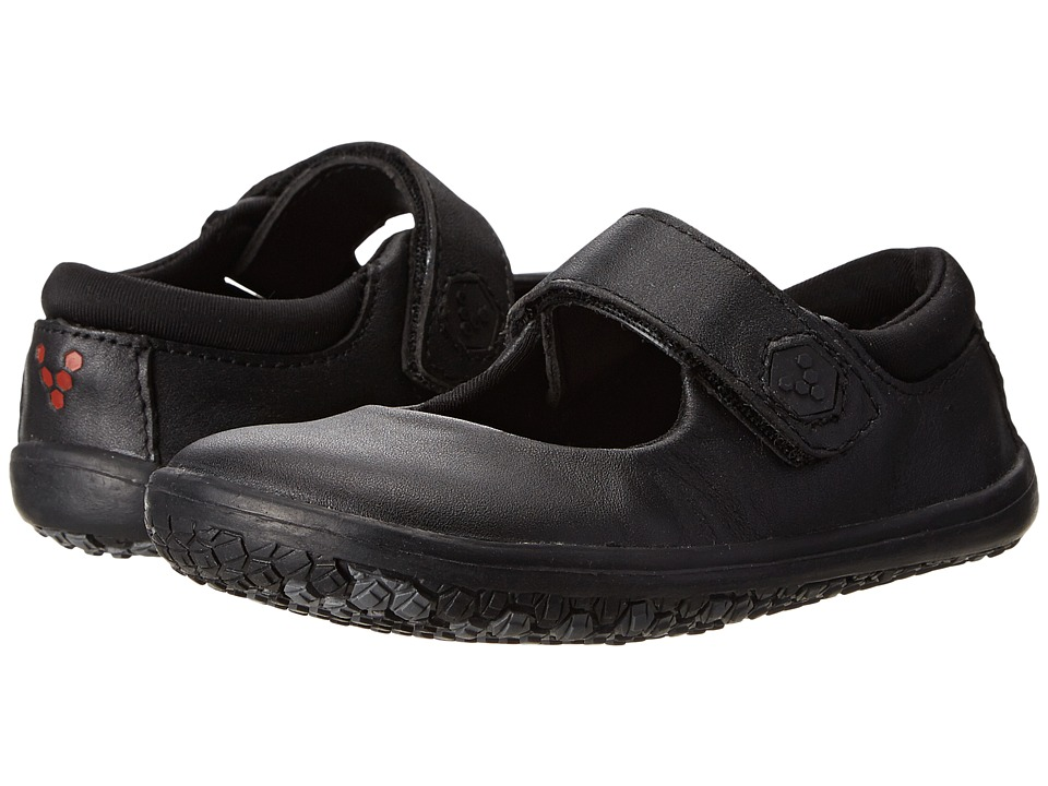 Vivobarefoot Kids - Pally (Toddler/Little Kid) (Black Leather) Girls Shoes