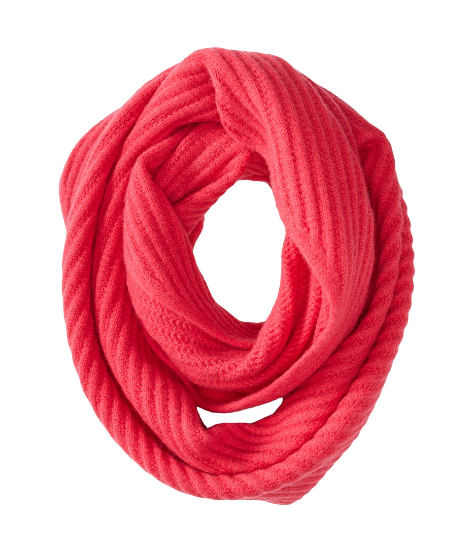 Cole Haan - Diagonal Rib Infinity Scarf (Pink) Scarves
