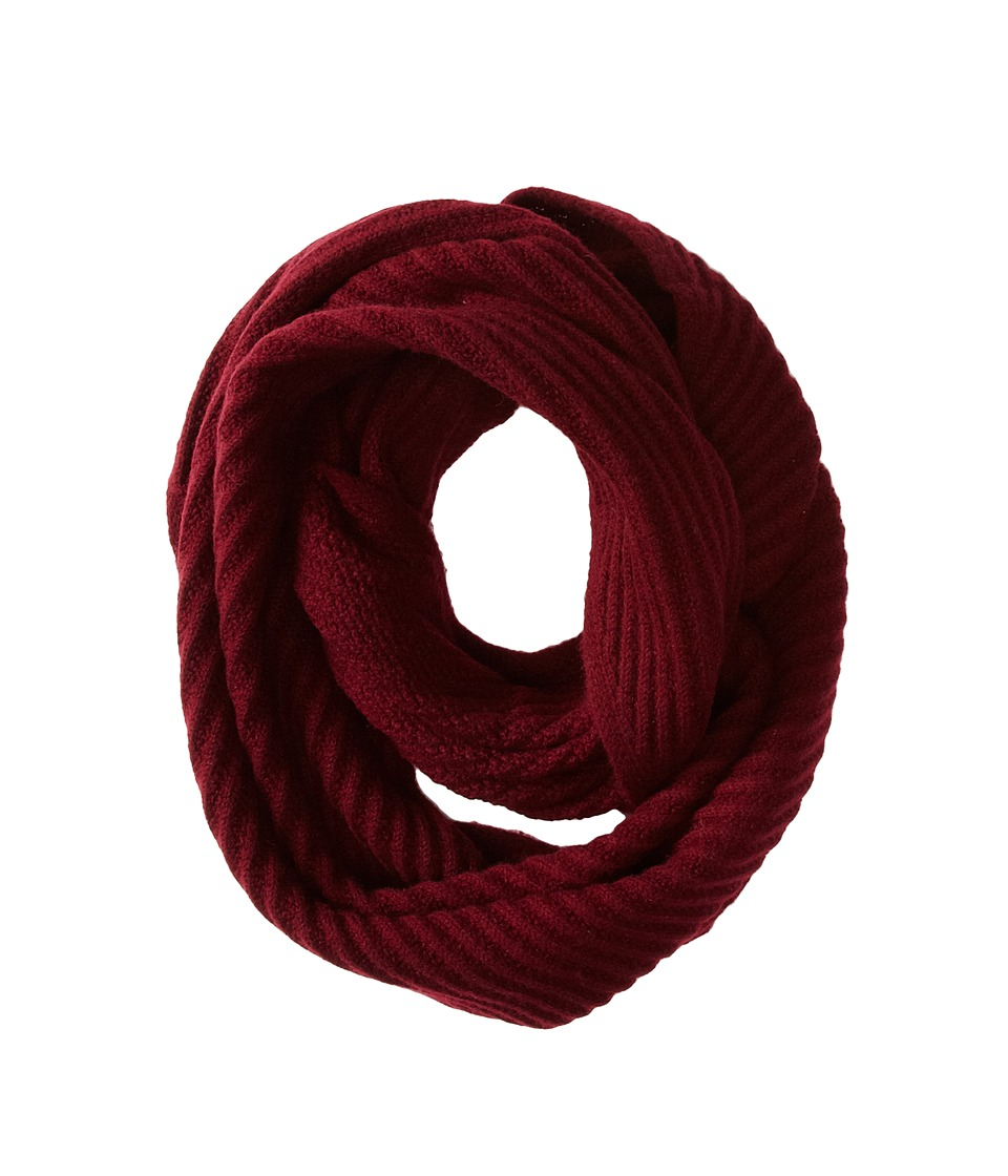 Cole Haan - Diagonal Rib Infinity Scarf (Red) Scarves