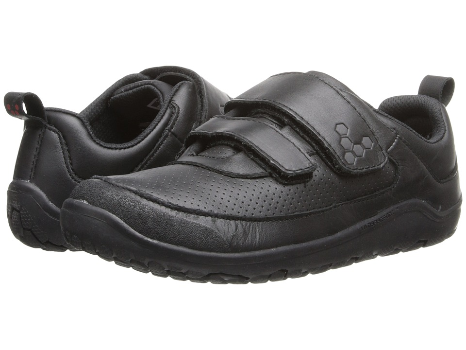 Vivobarefoot Kids - Neo Hook-and-Loop (Toddler/Little Kid) (Leather Black) Kids Shoes