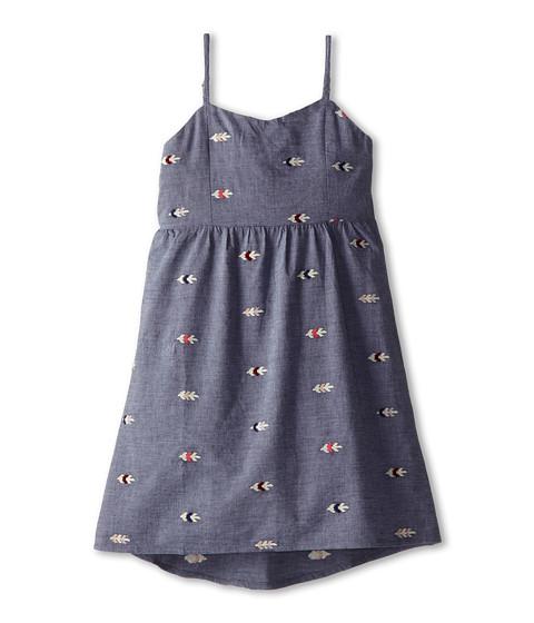 Roxy Kids - Promenade Dress (Big Kids) (Arrow Embroidery Chambray Print) Girl's Dress