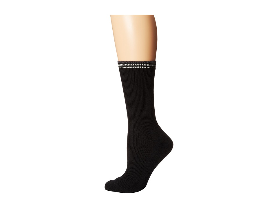 Goodhew - Tuscany (Black) Women's Crew Cut Socks Shoes
