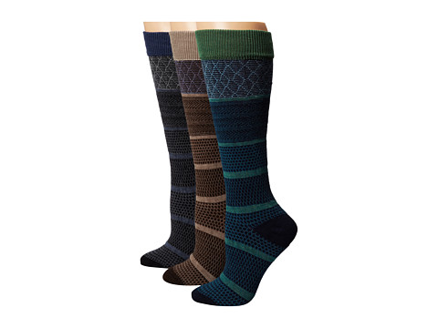 Goodhew - Wellington 3-Pack (Black/Espresso/Navy) Women's Crew Cut Socks Shoes