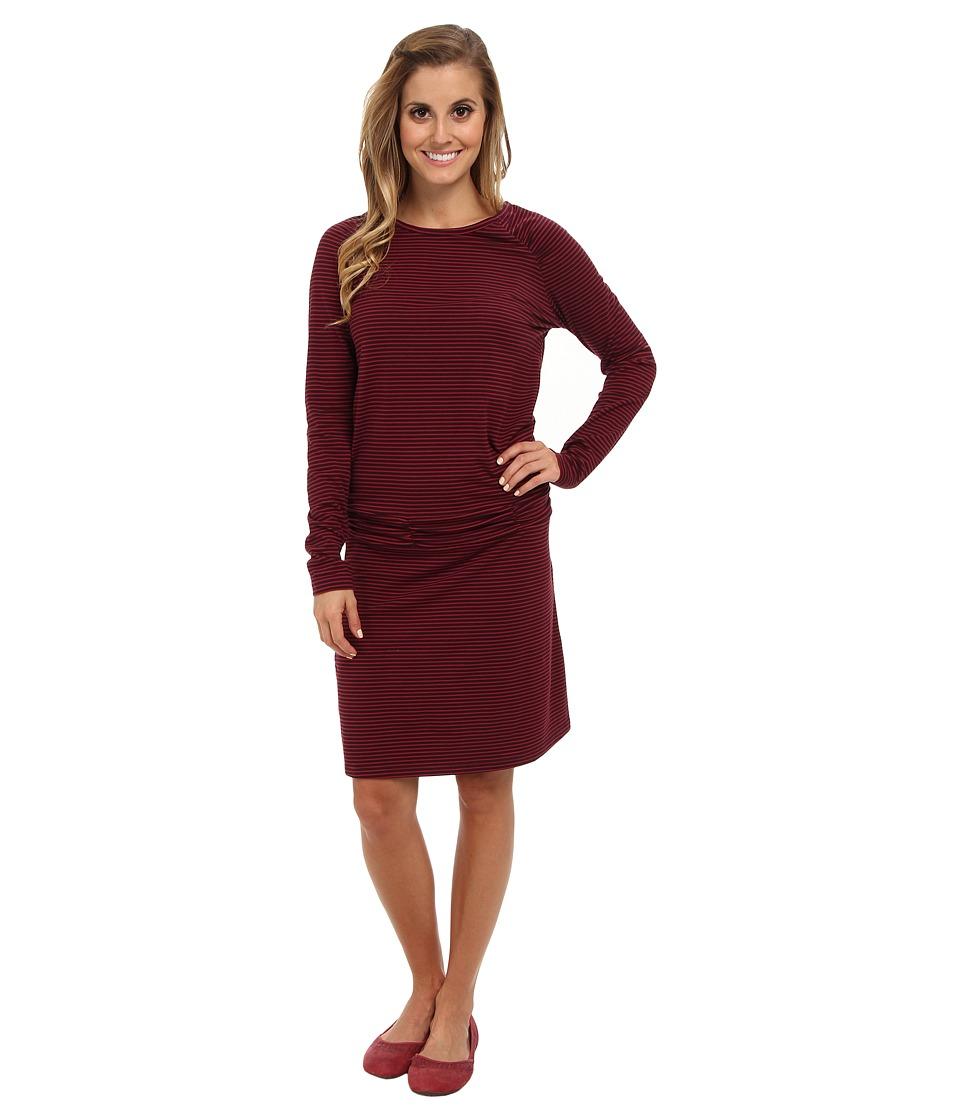 Carve Designs - L/S Shore Dress (Port Shadow) Women's Dress