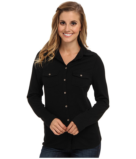 Carve Designs - Napa Button Down (Black) Women