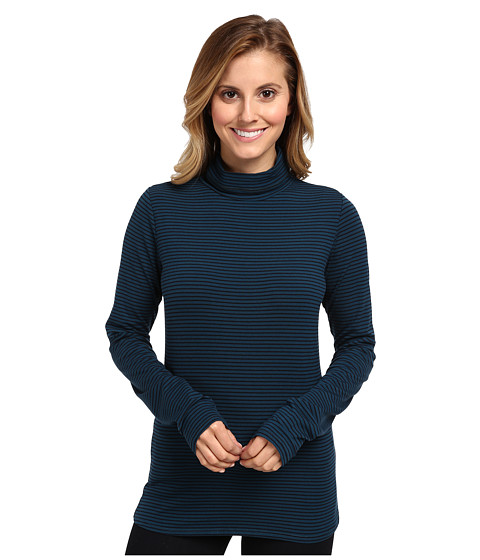 Carve Designs - Cedars Striped Turtleneck (Tahoe Shadow) Women's Long Sleeve Pullover