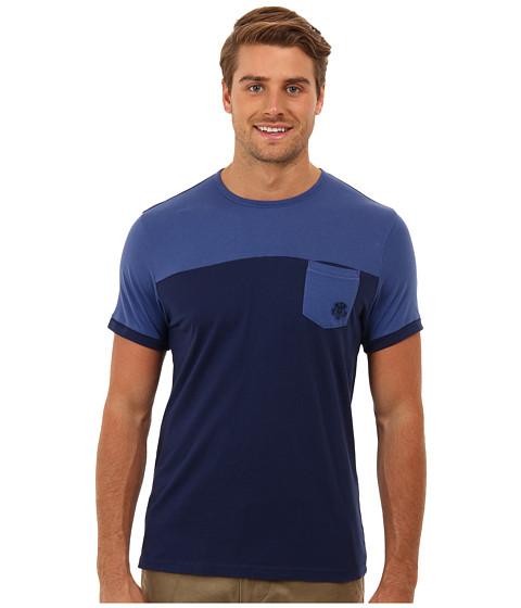 Mavi Jeans - Color Blocked Tee (Indigo Blue) Men