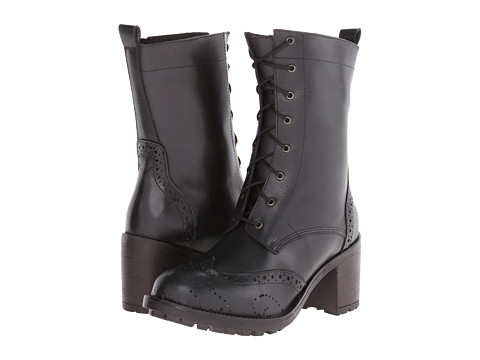Gabriella Rocha - Tie (Black Leather) Women's Lace-up Boots