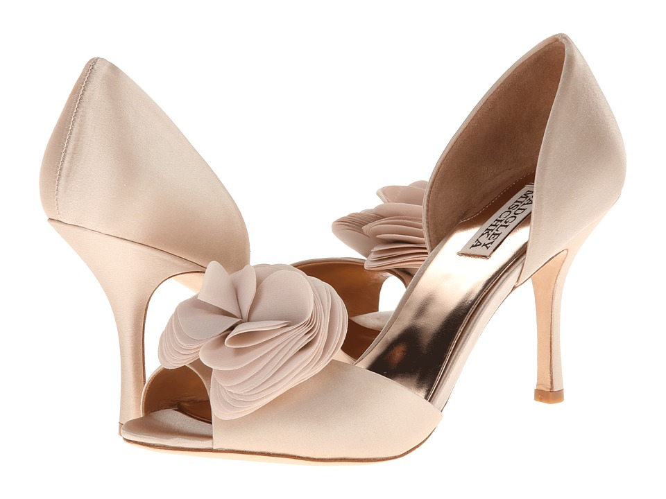 Badgley Mischka - Thora (Nude Satin/Chiffon) High Heels