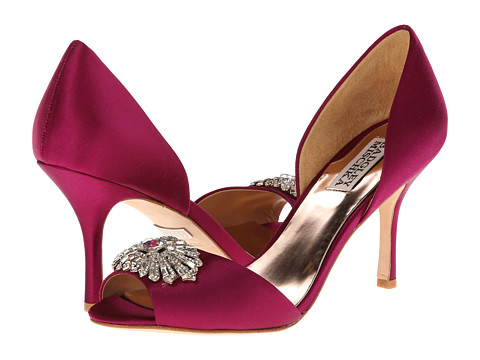 Badgley Mischka - Jazmin (Magenta Satin) High Heels