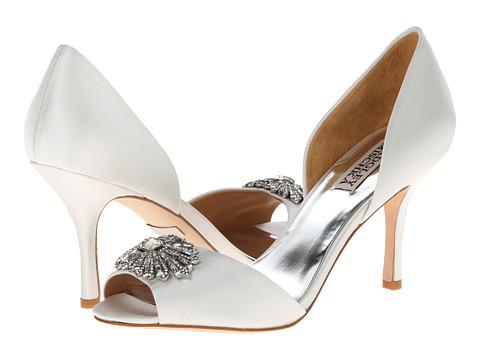 Badgley Mischka - Jazmin (White Satin) High Heels