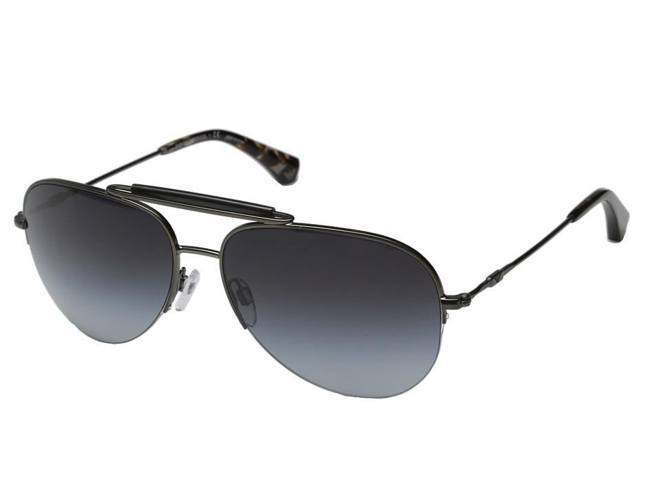 Emporio Armani - 0EA2020 (Matte Gunmetal/Grey Gradient) Fashion Sunglasses