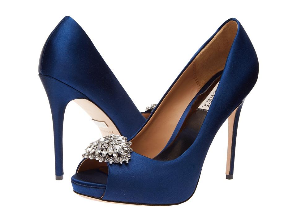 Badgley Mischka - Jeannie (Navy Satin) High Heels