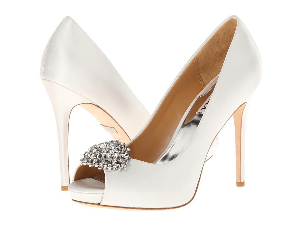Badgley Mischka Jeannie (White Satin) High Heels