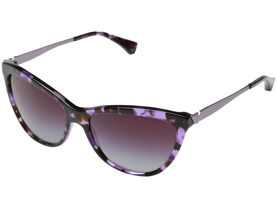 Emporio Armani - 0EA4030 (Violet Havana/Grey Gradient Dark Violet) Fashion Sunglasses