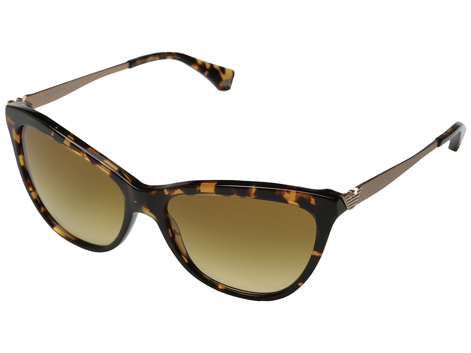 Emporio Armani - 0EA4030 (Yellow Havana/Light Yellow Gradient Ochre) Fashion Sunglasses