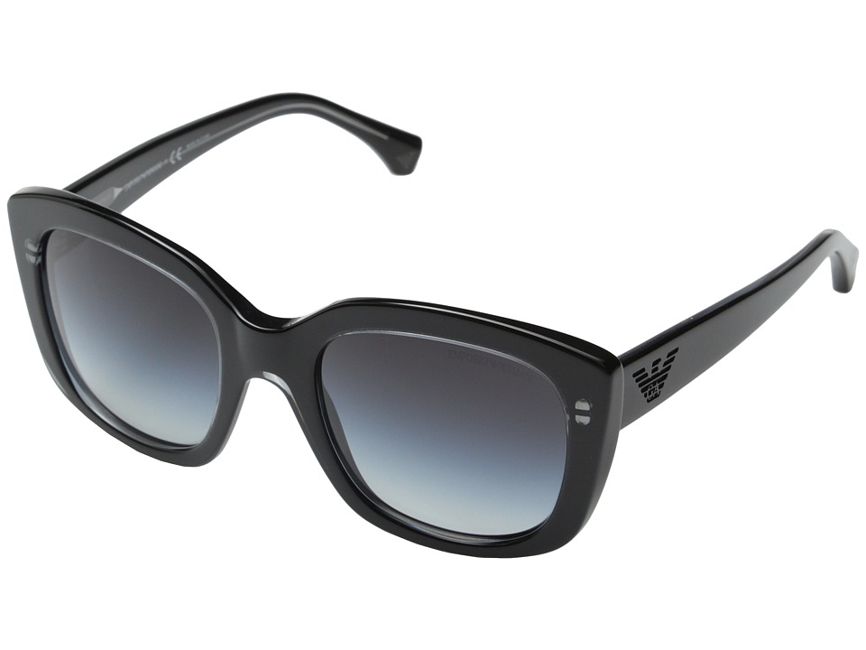Emporio Armani - 0EA4031 (Transparent Grey/Black/Grey Gradient) Fashion Sunglasses