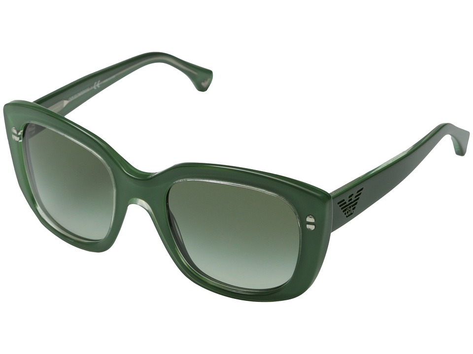 Emporio Armani - 0EA4031 (Transparent Lilac/Green Gradient) Fashion Sunglasses