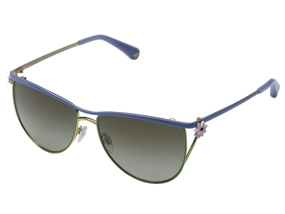 Emporio Armani - 0EA2022 (Lilac/Green/Green Gradient) Fashion Sunglasses