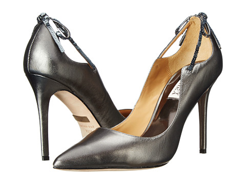 Badgley Mischka - Jewel II (Anthracite Metallic Leather) High Heels