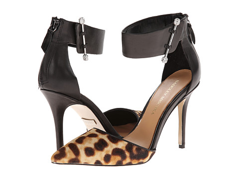 Badgley Mischka - Jude (Black/Natural Calf Hair/Leather) High Heels