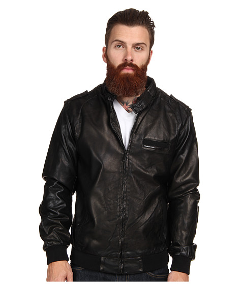 Members Only - Faux Real Racer Jacket (Black) Men's Coat