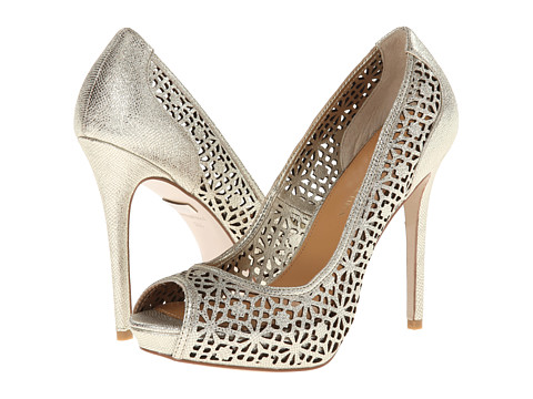 Badgley Mischka - Junior (Platino Metallic Leather) High Heels