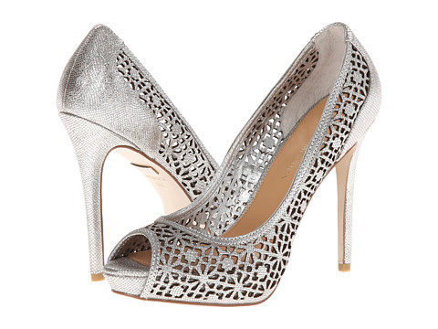 Badgley Mischka - Junior (Silver Metallic Leather) High Heels