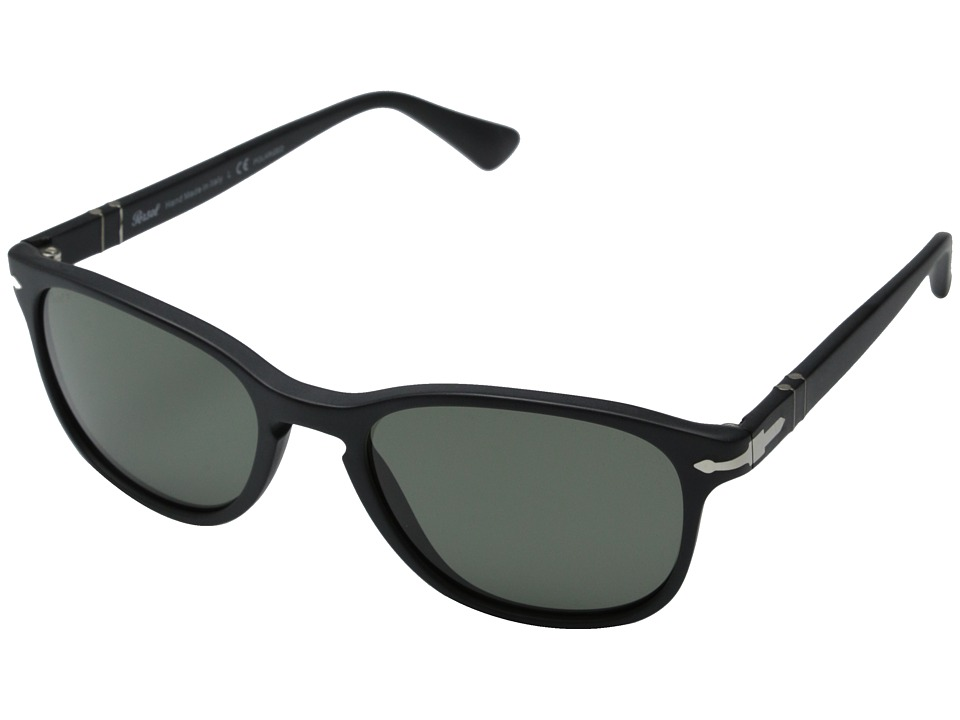 Persol - 0PO3086S (Matte Black/Polar Green) Fashion Sunglasses