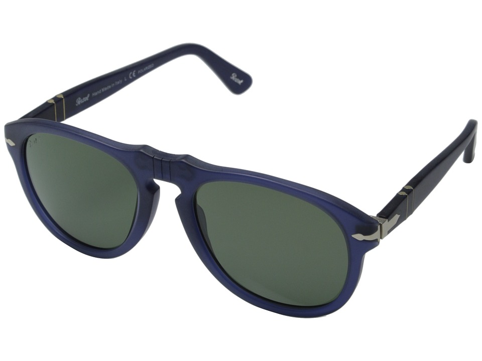 Persol - PO0649 - Photo-Polarized (Cobalto/Grey Mirror Gradient Photopolar) Fashion Sunglasses