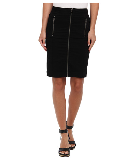 Mavi Jeans - Zipper Printed Skirt (Black) Women