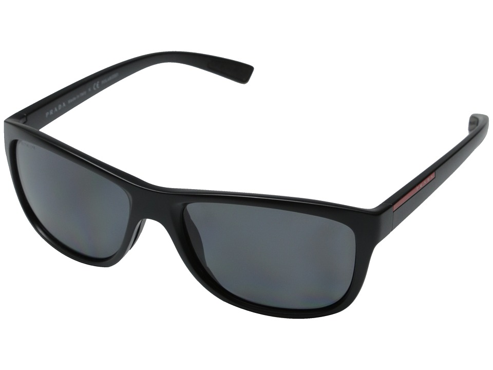 Prada Linea Rossa - 0PS 05PS (Matte Black/Polar Grey) Fashion Sunglasses