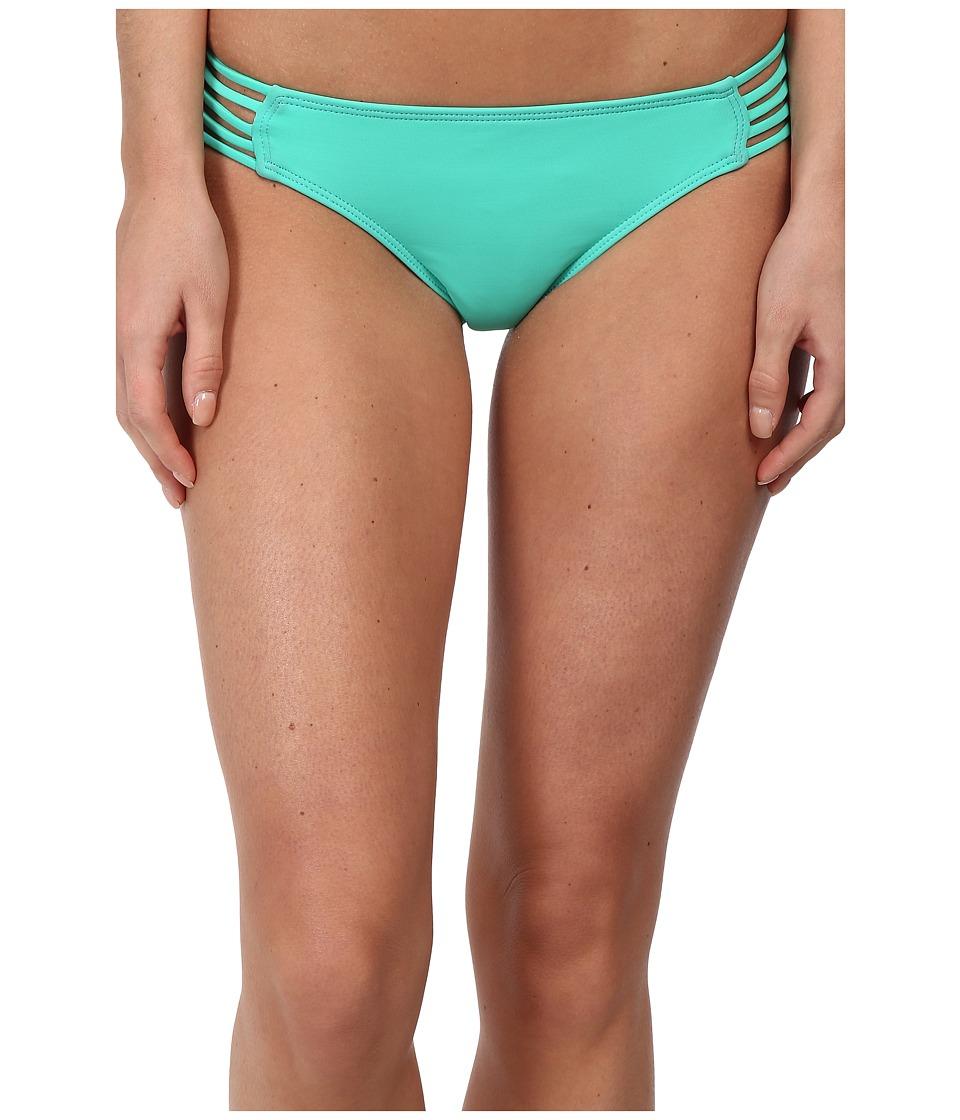 Hurley - One Only Spider Bikini Bottom (Aqua) Women