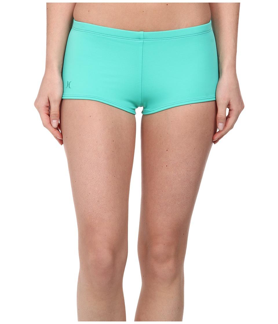 Hurley - One Only Boyshort (Aqua) Women's Swimwear