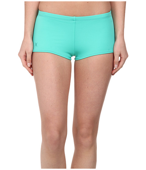 Hurley - One Only Boyshort (Aqua) Women's Swimwear