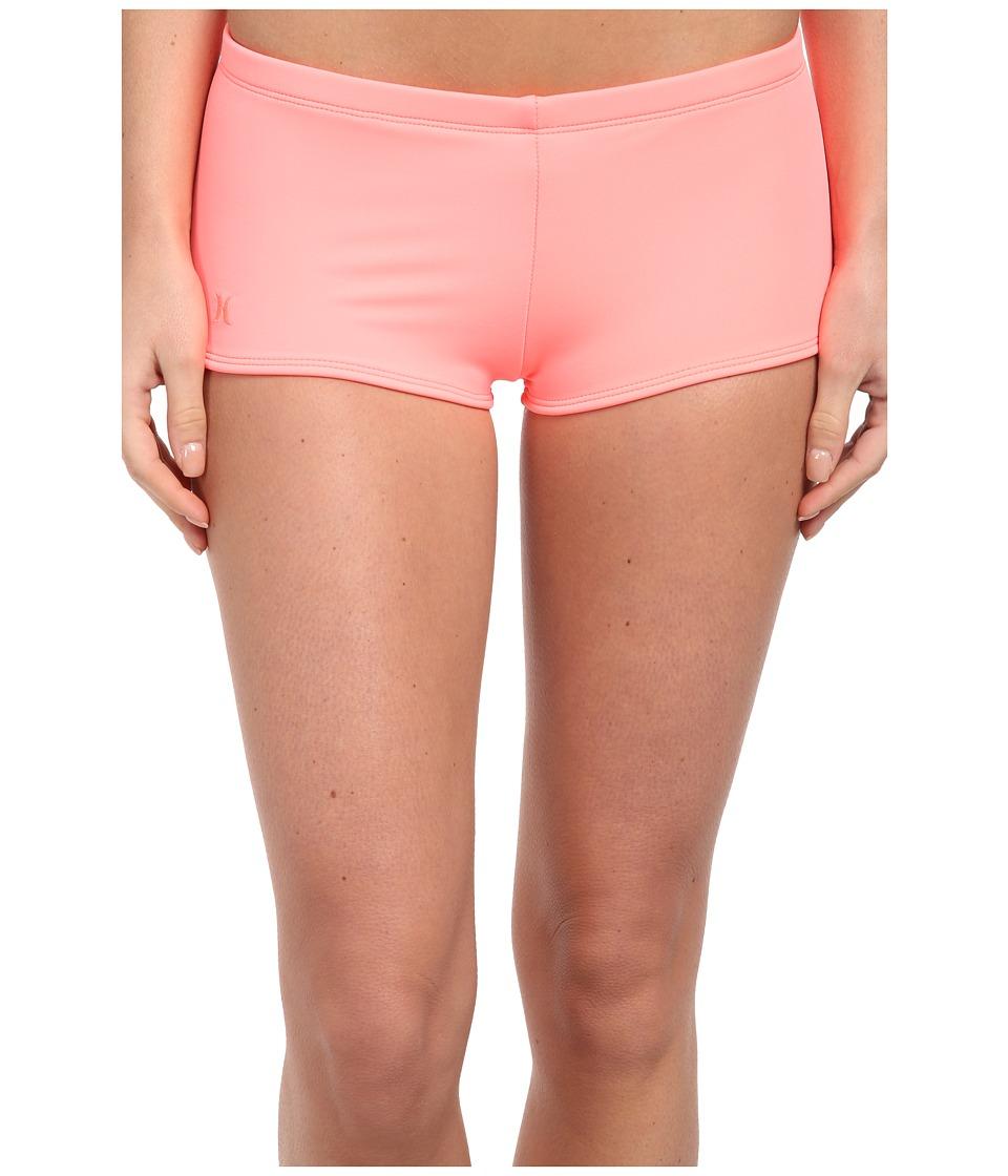 Hurley - One Only Boyshort (Pink) Women's Swimwear