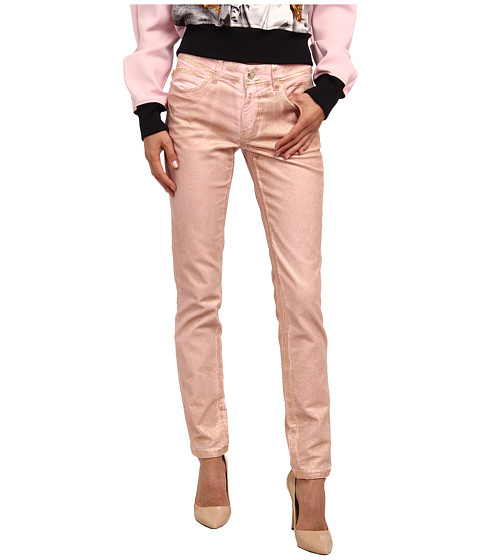 Just Cavalli Dye Metallic Skinny Leg Fit (Pale Pink) Women's Jeans
