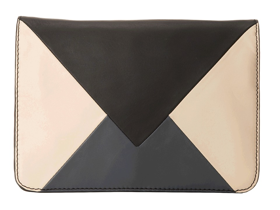 Sam Edelman - Sharp Graphic Convertible Clutch (Black/Ivory/Grey) Clutch Handbags