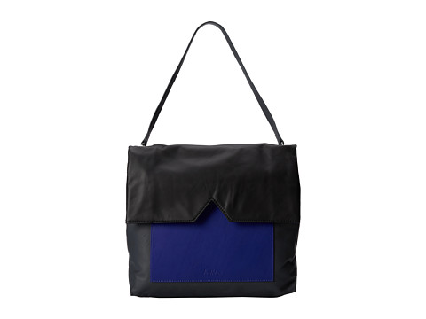 Sam Edelman - Sharp Graphic Large Shoulder Bag (Grey/Cobalt/Black) Shoulder Handbags