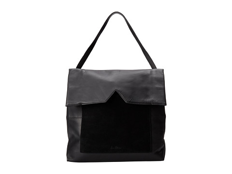 Sam Edelman - Sharp Graphic Large Shoulder Bag (Black/Black Suede) Shoulder Handbags
