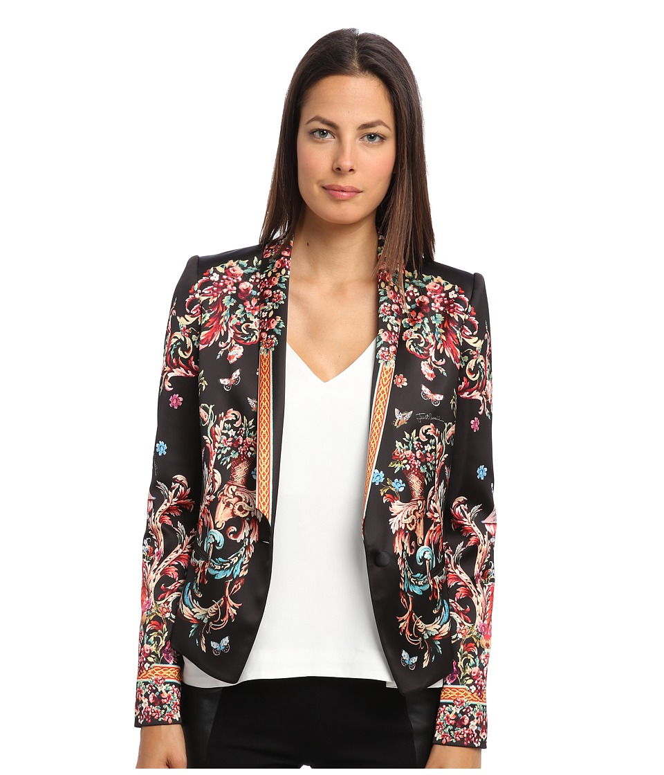 Just Cavalli - Floral Printed Blazer (Black Variant) Women's Jacket