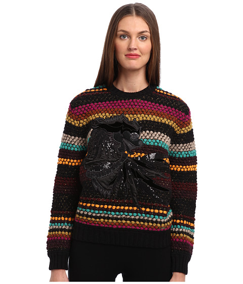 Just Cavalli - Striped Crew Neck Sweater (Multicolor Variant) Women's Sweater