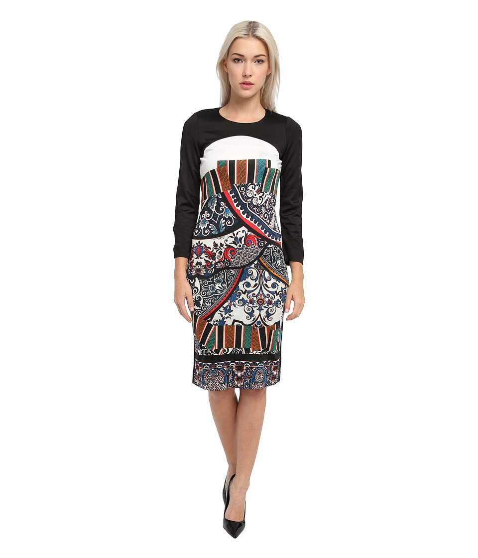 Just Cavalli - Long Sleeve Printed Shirt Dress (Black) Women