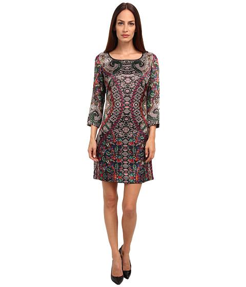 Just Cavalli - 3/4 Sleeve Printed Dress (Multicolor Variant) Women