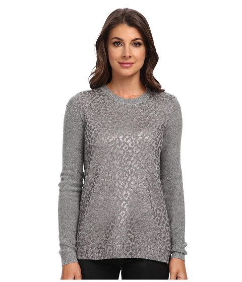Rebecca Taylor - Foil Leo Pullover (Medium Grey Heather Combo) Women's Long Sleeve Pullover
