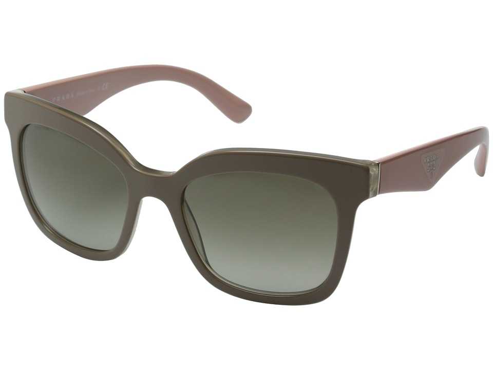 Prada - 0PR 24QS (Beige/Green Gradient) Fashion Sunglasses