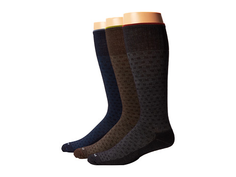 Sockwell - Shadow Box 3-Pack (Black/Espresso/Nacy) Men's Crew Cut Socks Shoes