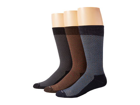 Sockwell - Jacked Up 3-Pack (Black/Espresso/Navy) Men's Crew Cut Socks Shoes