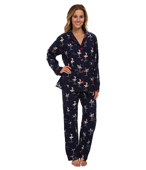 P.J. Salvage - Cheers Pajama Set (Navy) Women