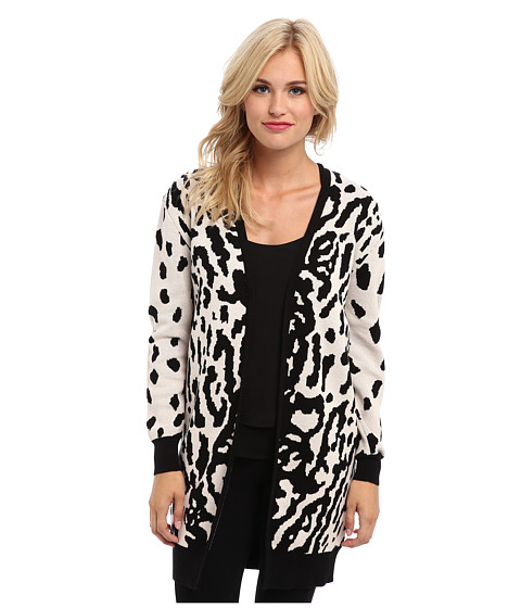 StyleStalker - Jungle Maxi Cardi (Leopard) Women's Sweater